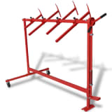 vidaXL Automotive Painting Rack Red