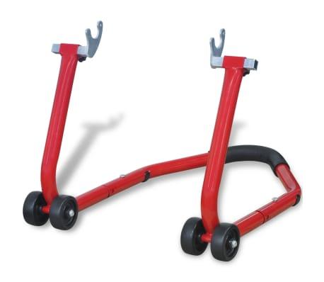 acheter vidaxl support arri re pour moto rouge pas cher. Black Bedroom Furniture Sets. Home Design Ideas