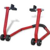 vidaXL Motorcycle Rear Paddock Stand Red
