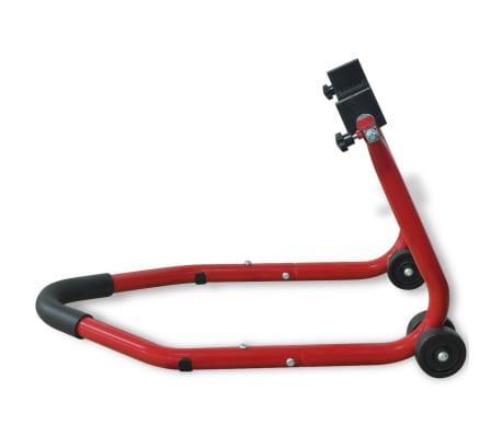 vidaXL Caballete Trasero para Moto Rojo[4/5]