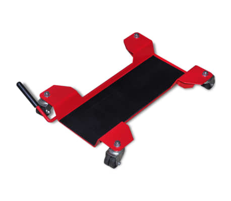 Vidaxl carrello sposta moto universale rosso alzaruota for Carrello sposta moto cavalletto laterale