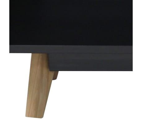 "vidaXL High Gloss Sideboard 63""x15.7""x27.6"" MDF Black[4/5]"