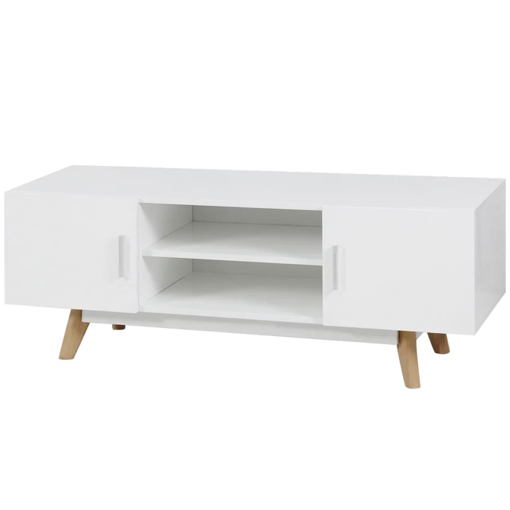Afbeelding van vidaXL Tv-meubel 120x40x46 cm MDF hoogglans wit