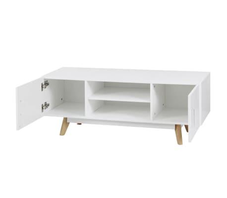 "vidaXL High Gloss TV Cabinet White 47.2""x15.7""x18"" MDF[2/6]"