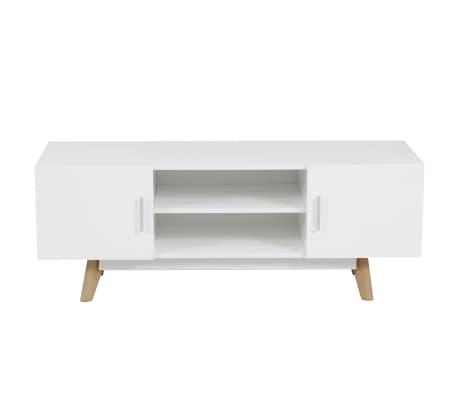 vidaxl meuble tv 120 x 40 x 46 cm blanc mdf. Black Bedroom Furniture Sets. Home Design Ideas