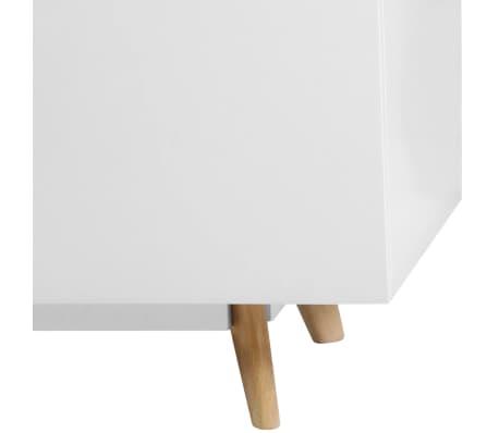 "vidaXL High Gloss TV Cabinet White 47.2""x15.7""x18"" MDF[5/6]"