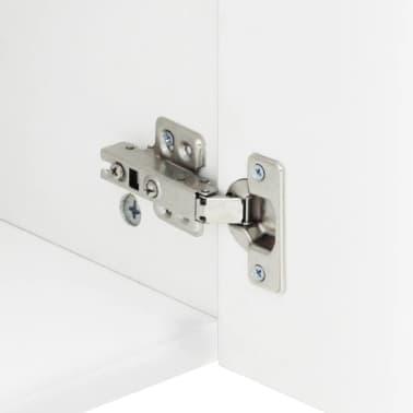 "vidaXL High Gloss TV Cabinet White 47.2""x15.7""x18"" MDF[4/6]"
