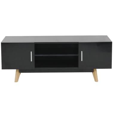 "vidaXL High Gloss TV Cabinet Black 47.2""x15.7""x18"" MDF[2/6]"
