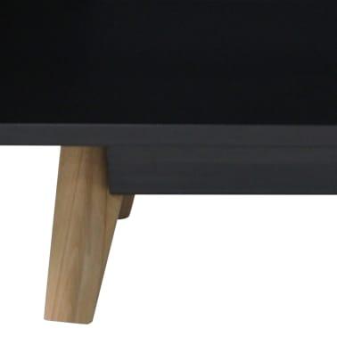 "vidaXL High Gloss TV Cabinet Black 47.2""x15.7""x18"" MDF[5/6]"