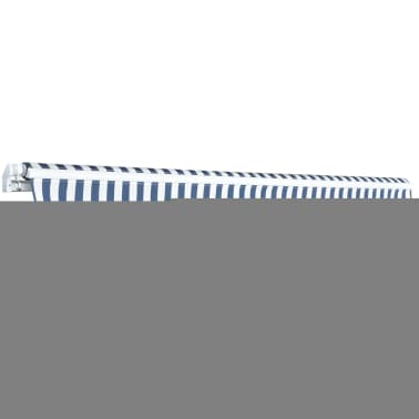 vidaXL Folding Awning Manual-Operated 350 cm Blue and White[3/6]