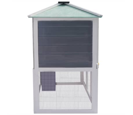 vidaXL Animal Rabbit Cage Double Floor Wood[4/8]