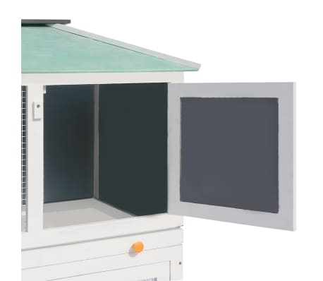 vidaXL Animal Rabbit Cage Double Floor Wood[5/8]