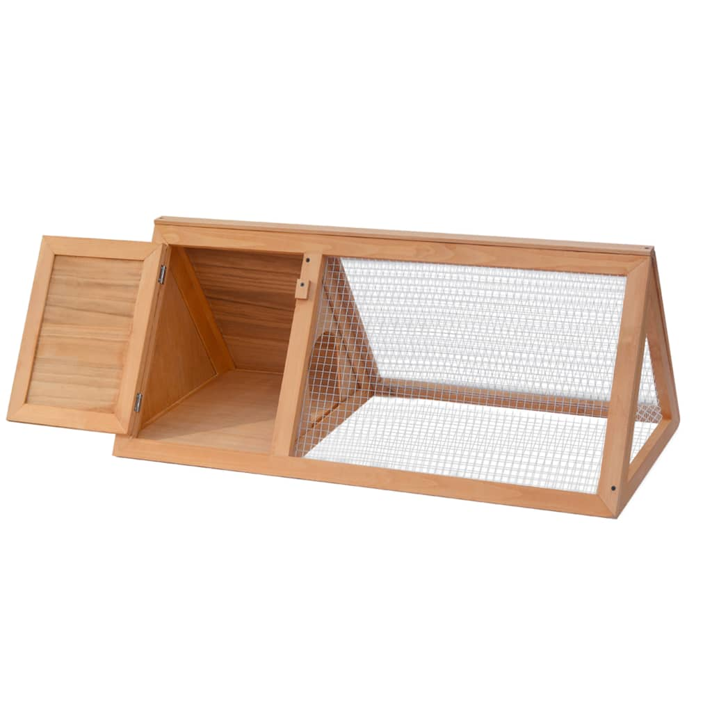 VidaXL Animal Rabbit Cage Wood Pet Cubby Room Hutch Habitat House Carrier
