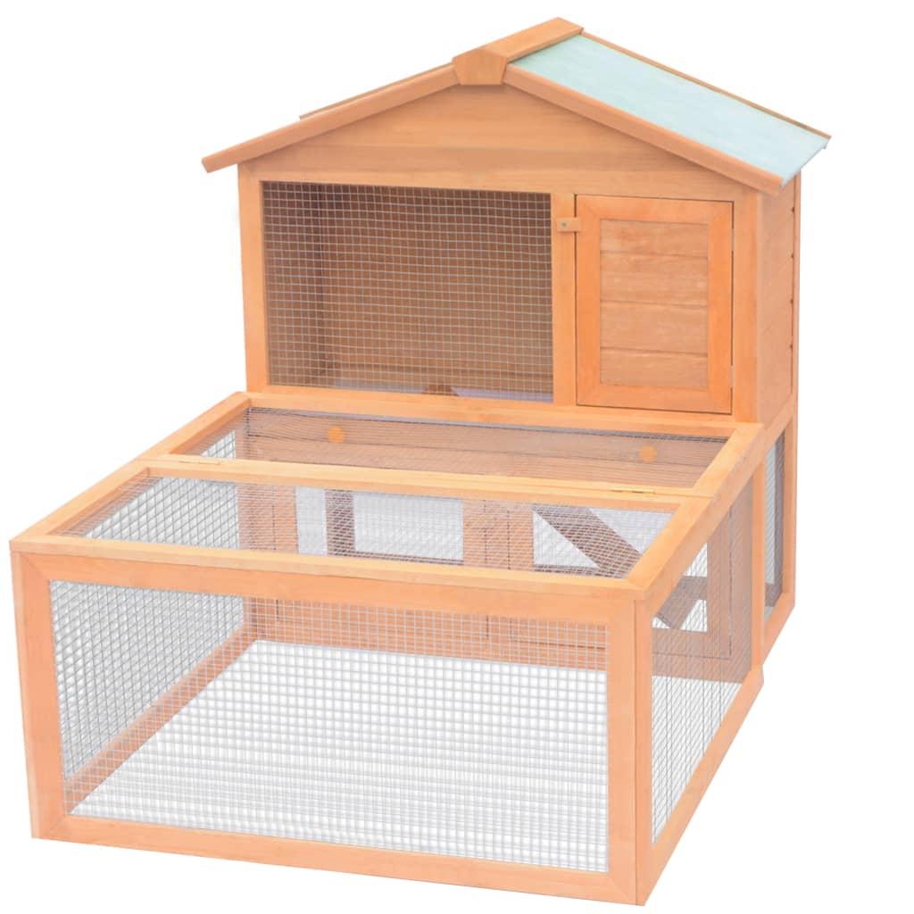 vidaXL Cușcă pentru iepuri și alte animale de exterior, lemn vidaxl.ro