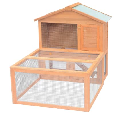 vidaXL Animal Rabbit Cage Outdoor Run Wood