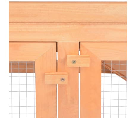vidaXL Animal Rabbit Cage Outdoor Run Wood[6/7]