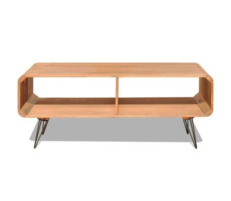"vidaXL TV Cabinet 35.4""x15.4""x15.2"" Wood Brown[4/8]"