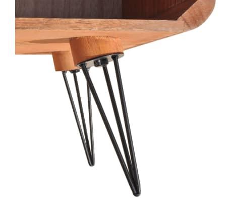 "vidaXL TV Cabinet 35.4""x15.4""x15.2"" Wood Brown[6/8]"