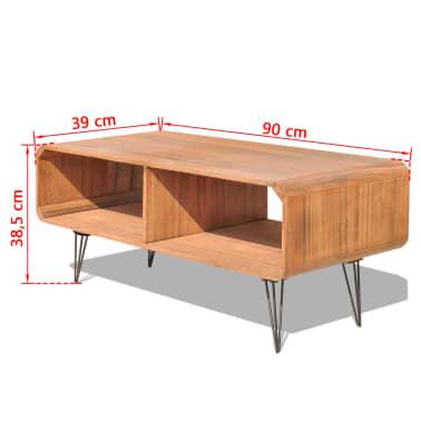 "vidaXL TV Cabinet 35.4""x15.4""x15.2"" Wood Brown[8/8]"