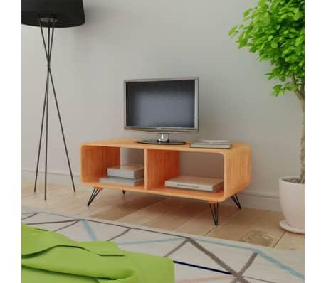"vidaXL TV Cabinet 35.4""x15.4""x15.2"" Wood Brown[1/8]"