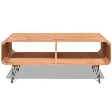 vidaXL Kavos staliukas, 90x55,5x38,5 cm, medinis, rudas[3/8]