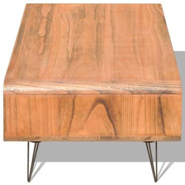 vidaXL Kavos staliukas, 90x55,5x38,5 cm, medinis, rudas[4/8]