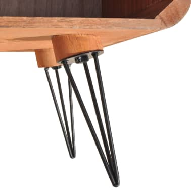 vidaXL Kavos staliukas, 90x55,5x38,5 cm, medinis, rudas[6/8]