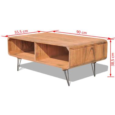 vidaXL Kavos staliukas, 90x55,5x38,5 cm, medinis, rudas[7/8]
