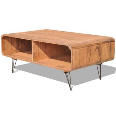 vidaXL Kavos staliukas, 90x55,5x38,5 cm, medinis, rudas[1/8]