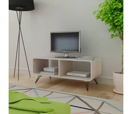 vidaxl tv schrank 90x39x38 5 cm holz grau g nstig kaufen. Black Bedroom Furniture Sets. Home Design Ideas