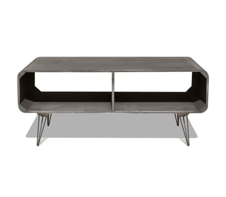 vidaXL Kavos staliukas, 90x55,5x38,5 cm, medinis, pilkas[3/8]
