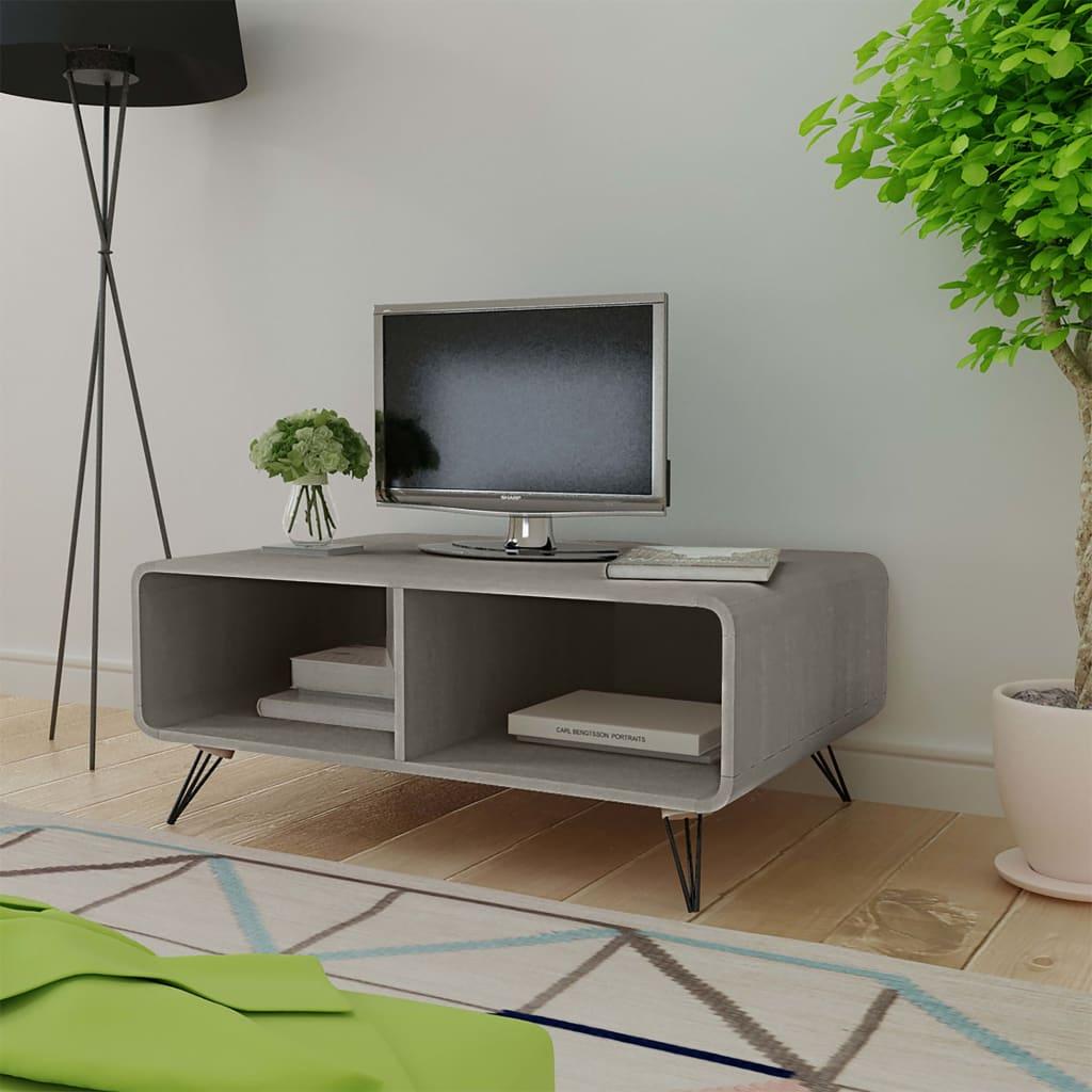 vidaXL Stolik kawowy 90 x 55,5 x 38,5 cm, drewniany, szary