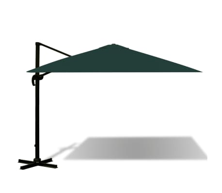 acheter vidaxl parasol en porte faux 3x3 m aluminium vert pas cher. Black Bedroom Furniture Sets. Home Design Ideas