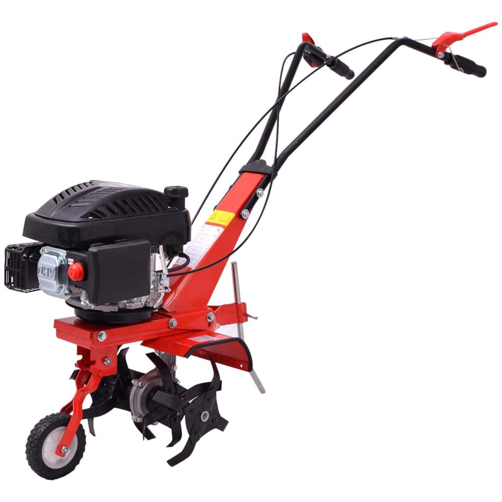 Benzínový kultivátor 5 HP 2,8 kW červený