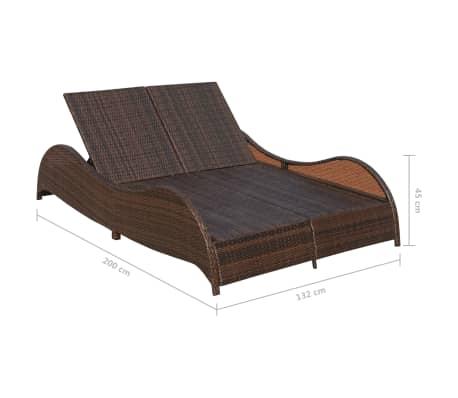 Acheter vidaxl chaise longue double et coussin ondul e for Chaise longue en resine tressee pas cher