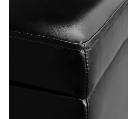 vidaXL Long Storage Bench Wood Black[5/5]