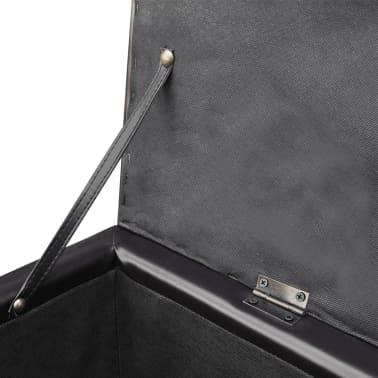 vidaXL Long Storage Bench Wood Brown[4/5]