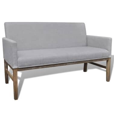 vidaXL Sofa Bench Light Gray Rubberwood[1/5]