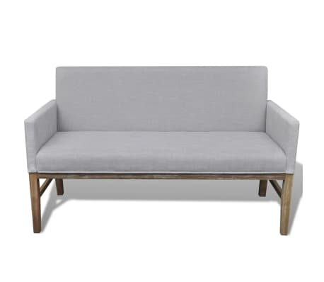 vidaXL Sofa Bench Light Gray Rubberwood[2/5]