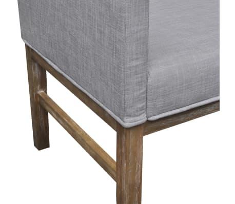 vidaXL Sofa Bench Light Gray Rubberwood[4/5]