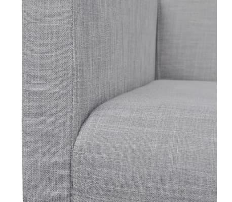 vidaXL Sofa Bench Light Gray Rubberwood[5/5]