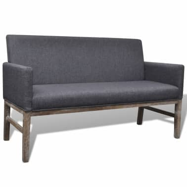 vidaXL Sofa Bench Dark Gray Rubberwood[1/5]