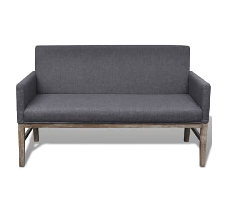 Padded Sofa Bench Couch Fabric Upholstery W Padded Cushion