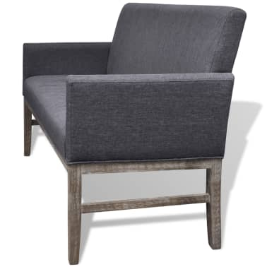 vidaXL Sofa Bench Dark Gray Rubberwood[3/5]