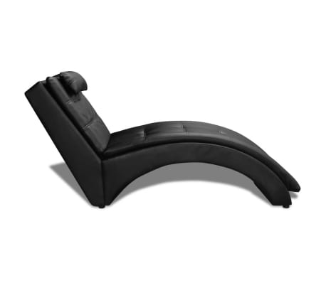 Modern Tufted Chaise Longue Sofa Indoor Chair Living Room Bedroom Black White