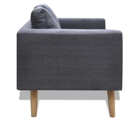 vidaXL 2-seater Sofa Fabric Dark Gray[3/4]