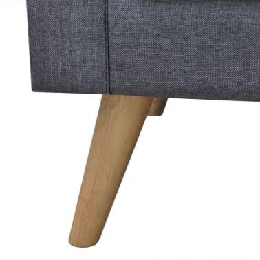 vidaXL 3-seater Sofa Fabric Dark Gray[4/4]