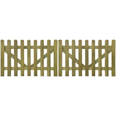 vidaXL Vrata za vrtno ograjo 2 kosa 300x100 cm FSC impregniran les[1/4]