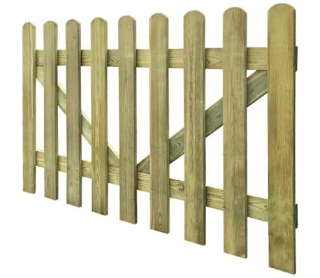 vidaXL Vrata za vrtno ograjo 2 kosa 300x100 cm FSC impregniran les[4/4]