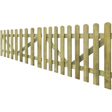 vidaXL Vrata za vrtno ograjo 2 kosa 300x100 cm FSC impregniran les[2/4]
